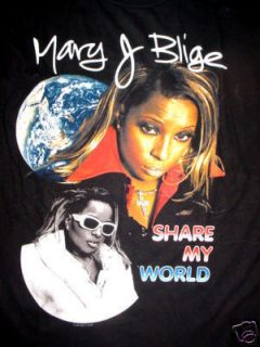 Vintage 1997 Mary J Blige Share My World Tour Shirt L