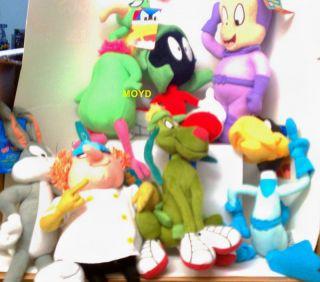 Lot of 8 Plush Warner Bros Bugs Bunny NSS Marvin Martian Queen