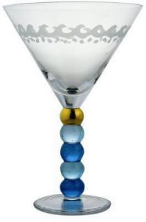 Beach House Martini Glass by Momo Panache New Discontinued