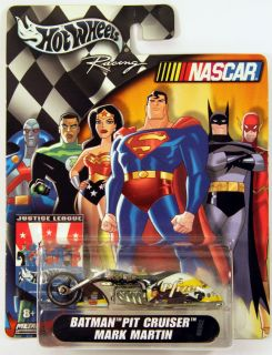 BATMAN PIT CRUISER motorcycle MARK M Hot Wheels HW racing NASCAR