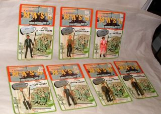 1982 Mash TV Show Action Figures Set Mint on Cards