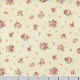 Mary Rose Quilt Gate 1302 15C Rose Bouquet Pink Cotton Quilt Fabric by