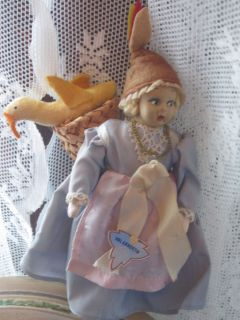 Antique Val Gardena, Italy Mascotte Souvenir doll mini felt vintage
