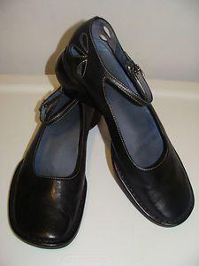 Womens Shoes Black Clarks Indigo 8 M Mary Janes Leather Dress