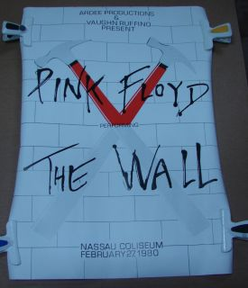 Pink Floyd Poster The Wall Nassau Coliseum Feb 27 1980