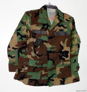 Air Force Surplus Woodland Camouflage Womens Maternity Coat Size 6S