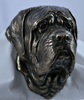 Mastiff Hanging on The Wall Statue Figurine Sculpture Limited Edition