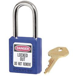 Master Lock Company 6 Pin Blue Safety Lock Out Padlock Keyed Differ