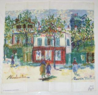 Maurice Utrillo V Montmantrei 1963 Spadem Cosmopress Pocket Square
