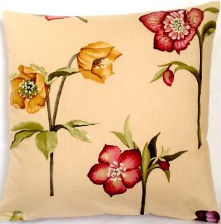 Cushion Cover Nina Campbell Floral Print Hellebore Red