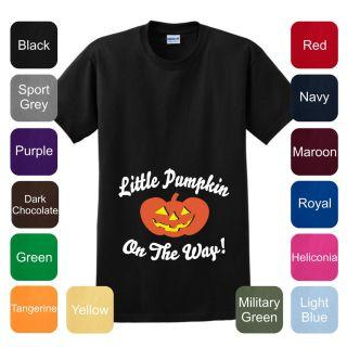 Little Pumpkin Pregnant Halloween Costume T Shirt Maternity Baby Cute
