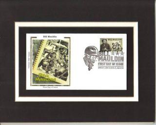 Bill Mauldin Cartoonist Willie Joe 1st Day Cover Bill Mauldin Stamp