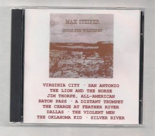 COLLECTOR ITEM MAX STEINER MUSIC FOR WESTERNS RARE DOUBLE CD ORIGINAL