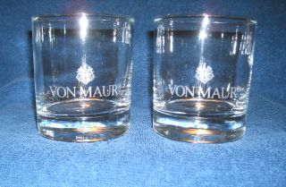 New Set of 2 Von Maur Rocks Glass 10 Oz
