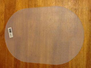 Oval Plastic Canvas Sheet 2 Pcs 12 x 18 Clear Stiff