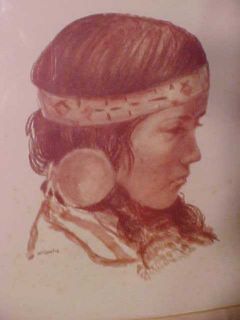 RARE Mary Ann Mcconchie Indian Drawing Signed Numbered