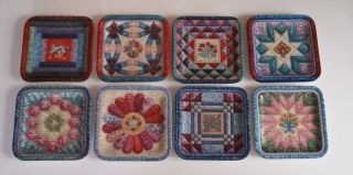 Bradford Mary Ann Lasher Quilt Plates Cherished Traditions 8 Piece