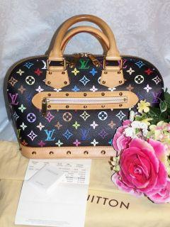 LOUIS VUITTON *ALMA * Multicolor MONOGRAM black Handbag WYNN Las Vegas