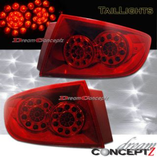 2004 2006 Mazda Mazda3 L E D Tail Lights LED Red Style for 4DR 4 Door