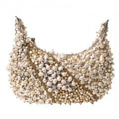 MARY FRANCES Sea of Pearls Mini Bag White Pearl Bag Handbag purse NEW