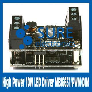 High Power 10W LED Driver MBI6651 PWM Dim