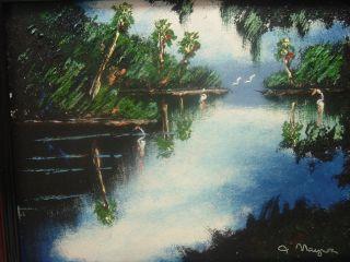 St Lucie Inlet J Maynor Painting Florida Highwaymen Landscape Art