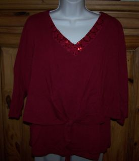 Womens Jason Maxwell Tank Shrug Stretch Top Shirt Size 1x