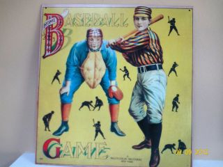 McLoughlin Brothers NEW YORK Baseball Game Tin Sign Desperate Sign Co