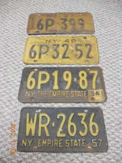 Mixed Lot of New Yor Plates 1937 48 54 57