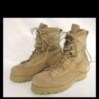 McRae Footwear Vibram Soles Mens Steel Toe Military Boots Tan Sz. 6