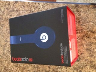 Beats by Dr. Dre Solo HD Headband Headphones   Blue, Box, Case, Fast