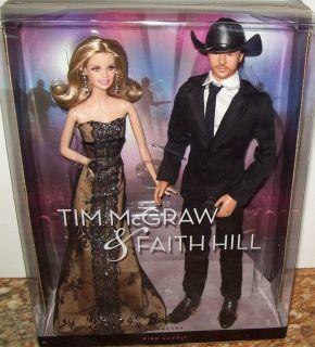 Tim McGraw Faith Hill 2 Doll Collector Set NRFB Mint Box NRFB Free