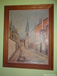 Mid Century Modern Maurice Utrillo Eglise de Stains Montmartre Framed