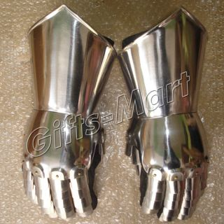 Medieval Ganutlet Knight Gothic Gauntlets Warrior Hand Gloves Pair