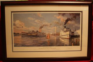 Paul McGehee Old Washington DC Steamboats of the Potomac River Print