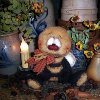 Primitive Raggedy Bumble Bee 5 Doll Bug Vtg Bear Style Ornie
