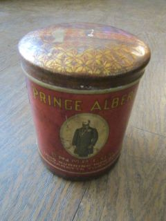 Vintage Prince Albert Crimp Cut Pipe Cigarette Tobacco Metal Tin Can w