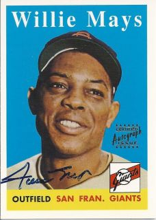 WILLIE MAYS AUTO CARD 1996 Topps Commemorative Set Card Autograph