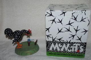 Department 56 Chicken Figurine Hard Hat MIB Bryan McNutt