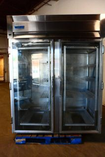 HEAVY DUTY COMMERCIAL GRADE McCALL REMOTE ROLL IN REFRIGERATOR WITH 2