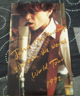 John Mellencamp RARE Whenever Wanted World Tour Book 1992 FREE
