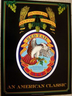 Mendocino Brewing Co Red Tail An American Classic Vintage Beer Poster