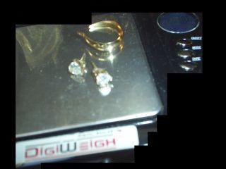 14k kt Gold 925 Sterling Silver Earrings Estate Findings Scrap 1 85 gs