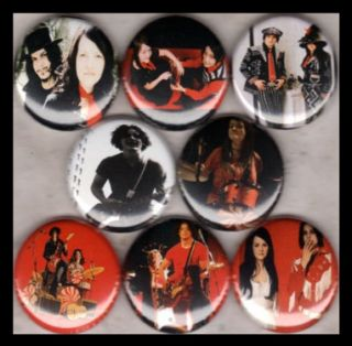 White Stripes 1 Buttons Badges Jack White Meg White