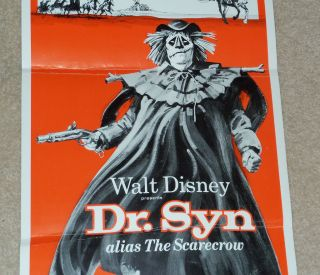 Disney Dr Syn Scarecrow Romney Marsh Movie Poster McGoohan