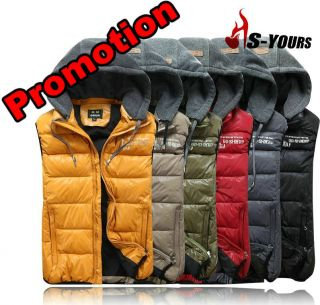 New Mens Fashion Vest Winter Warm Thermal Sleeveless Jacket Zip