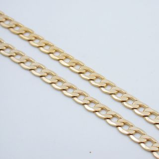 24 7mm Mens Gold EP Cuban Link Necklace Chain