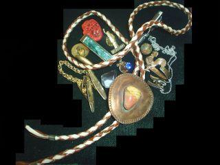 Vintage 50s Steam Punk Mens Clips Estate Pcs Items Junk Drawer Jewelry