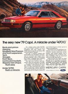 1979 Mercury Capri Red Classic Advertisement Ad P43