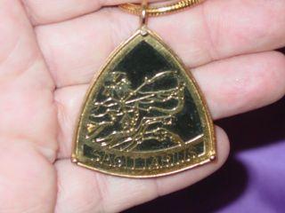 Vintage Florenza Necklace Sagittarius Pendant Black Gold